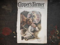 1928 CAPPER'S FARMER Cover Only, Vintage picture musty, tattered Farmhouse Decor