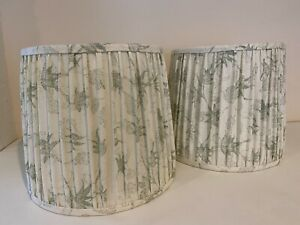 """Pair of Kerry Joyce Textile pleated classic Drum  Lampshades12"""" x 8"""" x 15.5"""""""