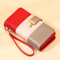 Women Genuine Leather Long Wallet RFID Money Card Holder Clutch Purse Handbag