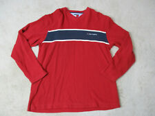 576f9d77 VINTAGE Tommy Hilfiger Long Sleeve Shirt Adult Small Red Blue Spell Out Men  90s