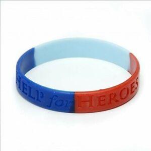 BRAND NEW Help for Heroes Medium silicone wristband / bracelet - Medium (21 cm)