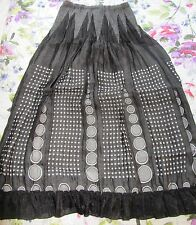 Ladies Unusual Black Spotty & Circle Long Skirt By *Rinascimento* size M
