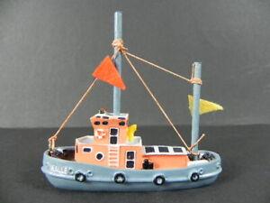 Ship Model Harbor Tug Kalle Hamburg Port, 8 CM Polyresin, Tanker