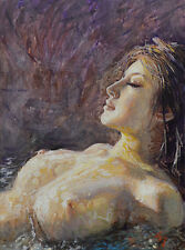 Contemporary Art/ Original Painting by American Artist Samuel Johnson /Nude