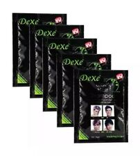 5 Bags DEXE Black Hair Shampoo Best Instant Hair Color Dye: 🥇100% Authentic🥇