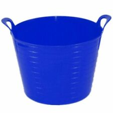 [Set of 5] 40L Flexi Tub Bucket Plastic Multi-Purpose Storage Container Blue