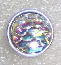 CLASSIC SNAPS SNAP CHUNK CHARMS - 12MM IRRIDESCENT MOTHER OF PEARL SCALE SNAP