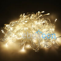 10M/20M 100/ 200 LED Bulbs Xmas Fairy Party String Decoration Lights Waterproof