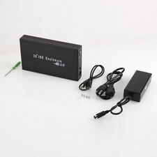 "Lot 2 HDD External Hard Drive Enclosure Case 3.5"" IDE USB 2.0 Support 1TB D"