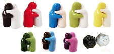 HUGGING NOVELTY SALT & PEPPER SETS SHAKERS POTS PORCELAIN Black/RED/ white new