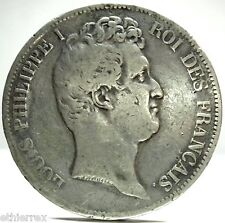 France (L.Philippe I) 5 Fr.-1831 D,incuse lettering