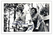 CARRY ON HATTIE JACQUES & KENNETH WILLIAMS SIGNED PHOTO PRINT AUTOGRAPH POSTER