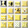 Fashion Yellow Pillow Case Sofa Car Waist Throw Cushion Cover Home Decoration