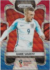 2018 Panini FIFA World Cup Blue Red Wave Prizm (65) Jamie VARDY England