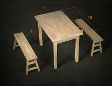 1/6 soldier model furniture fittings, table +stool
