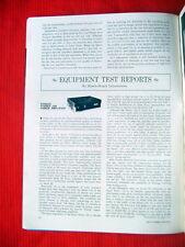 "Dynaco Stereo 120, KLH Model Twelve reviews ""Hi Fi/Stereo Review"" magazine 6/67"