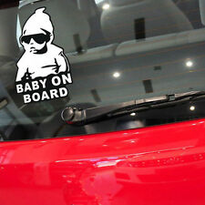 Funny Cool Baby on Board Vinyl Car Sticker with Sunglasses Decal Sign Window BOS