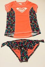 ROXY 2 PIECE GIRLS SWIM SET MULTI-COLOR SIZE 14