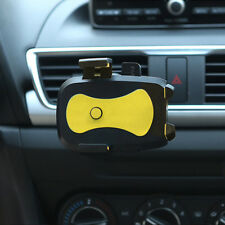 360° Yellow Mobile Cell Phone Car Air Vent Condition Mount Cradle Stand Holder