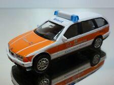 HONGWELL BMW 325i TOURING E36 NOTARZT - WHITE + ORANGE 1:43 - GOOD CONDITION
