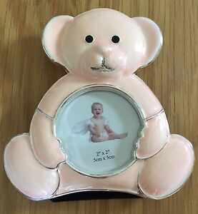 Babys Pink Teddy Photo Frame