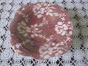 SMALL VINTAGE ROYAL WINTON ROSE BROCADE LUSTRE COMPORT