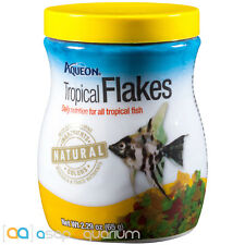 Aqueon Tropical Flakes Fish Food 2.29oz Jar Fast Free USA Shipping