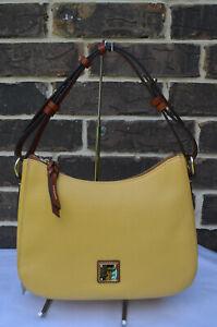 NWT $228 Dooney & Bourke Pebble Grain Small Kiley Lemon Hobo Shoulder Bag Yellow