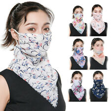 Women Floral Outdoor Riding UV Protection Neck Cover Full Face Mask Veils Sanwo