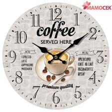 OROLOGIO da parete muro Legno COFFEE cm.34 cucina Bar caffè ristoranti Shabby