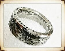 WW 2 German 2 Reichsmark .625 Silver Third Reich Coin Ring. size 5-9