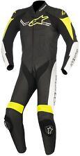 Tuta in Pelle Alpinestars Challenger V2 1tlg colore Nero/giallo Neon/