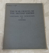 More details for ww1 memorial register suffolk 1-248 - war graves of the british empire 1931