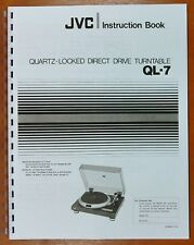 JVC QL-7 Turntable Owners Manual