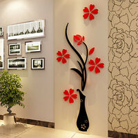 3D Flower Vinyl Decal Decor Art Home Living Room Removable Mural Wall Sticker Gw