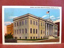 Postcard WV Beckley Soldiers and Sailors Memorial Building