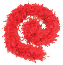 RED  80 GRAMS FEATHER BOA  BURLESQUE HEN NIGHT STAG DANCE SOFT FANCY DRESS PARTY