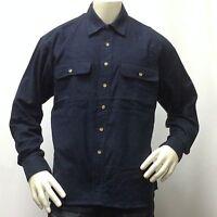 Men's Flannel Shirt Button Down Long Sleeve Marino Bay Shirt 100% Cotton NEW