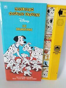 Disney 101 Dalmatians Golden Sound Story Book 1990s Vintage WORKS!