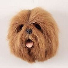 *(1) Brown Lhasa Apso Dog Magnet! Very realistic collectible furry Magnets.