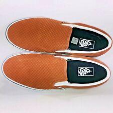 VANS Slip On Embossed Suede Sequoia Brown Skateboard Sneaker VN0A38F7U7G Size 12