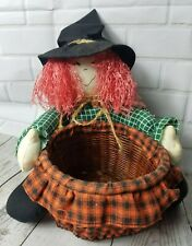 Ganz Cackling Witch Eerie Sound Vintage 1998 Halloween Candy Basket Display
