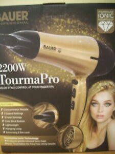 BAUER 2200W Professional Ionic Hair Dryer Concentrator Nozzle Blower Pro Salon*