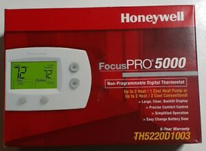 Honeywell TH5220D1003 Thermostat | Non-Programmable, Digital, FocusPro (2H/2C)