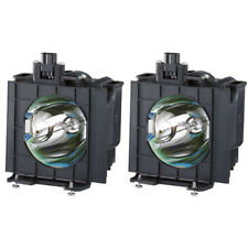 New Twin Pack ET-LAD40W - Genuine PANASONIC Lamps for the PT-D4000 projector