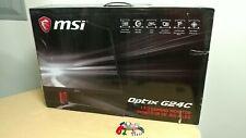 "MSI Optix G24C 24"" Full HD Curved LED Gaming Monitor Brand New Working Cracked"
