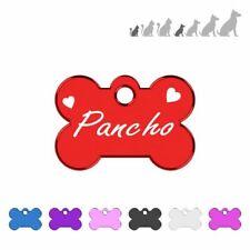 Placa chapa de identificacion personalizada para collar perro gato mascota