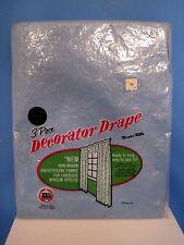 Vintage Maytex Mills Blue 3 Piece Decorator Drape Plastic Curtains