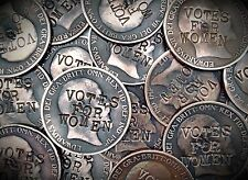 Suffragette Penny . Defaced Edward VII Coin . Votes for Women . Buy 2 Get 1 Free