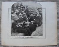 Blatt 1914-25 Dünen Ostende Deutsche Soldaten i Schützengraben Belgien 1.WK WWI